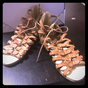 Just fab brown sandals